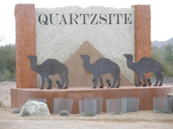 quartzite welcome sign