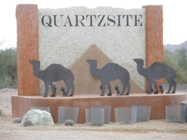 quartzite welcome sign